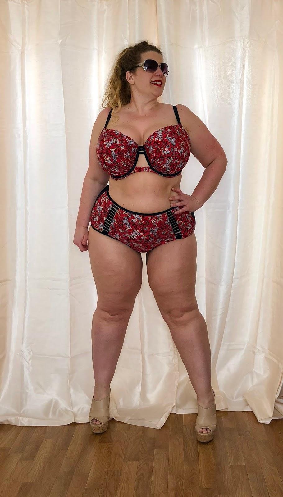 Curvy Kate Maya Red Print Balconette Bikini